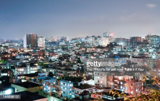 Dhaka at night
