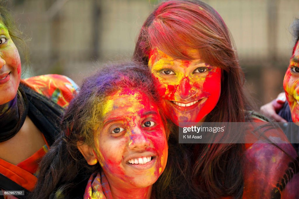 Dhaka University fine Art Students celebrate the Holi...