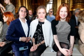 Dhani Harrison Solveig Harrison and model Karen Elson attend the Stella McCartney show as part of the Paris Fashion Week Womenswear Fall/Winter...