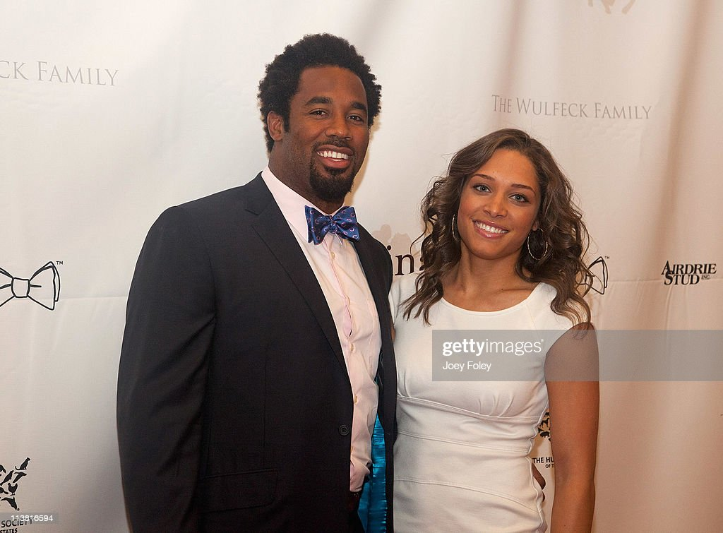 Dhani Jones and girlfriend Marsha Ashley attends the 2nd annual Ferdinand's Ball during the 137th Kentucky Derby at Frazier International History...