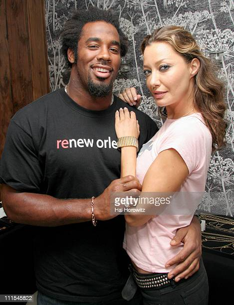 Dhani Jones and Sky Nellor during 2006 MTV Video Music Awards Glamour 'House of Glam' Styling and Gifting Suite at Soho House at Soho House in New...