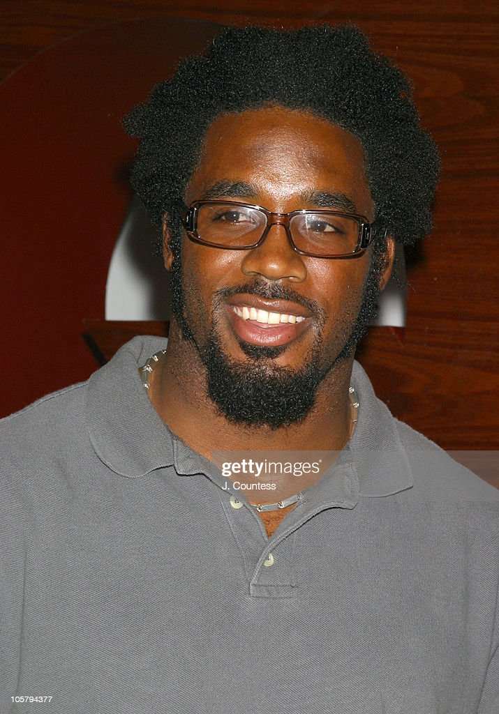 Dhani Jones of the New York Giants during GQ Celebrates September Debut Issue Under New Editor and Chief Jim Nelson at Hudson Studios in New York, New York, United States.