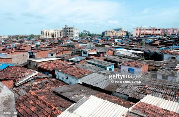 Dharavi India's largest slum of Asia in Mumbai Maharashtra