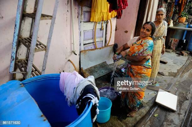 Dharavi Slum in Mumbai Dharavi is the largest slum in Asia in Mumbai on March 15 2014 in Mumbai India