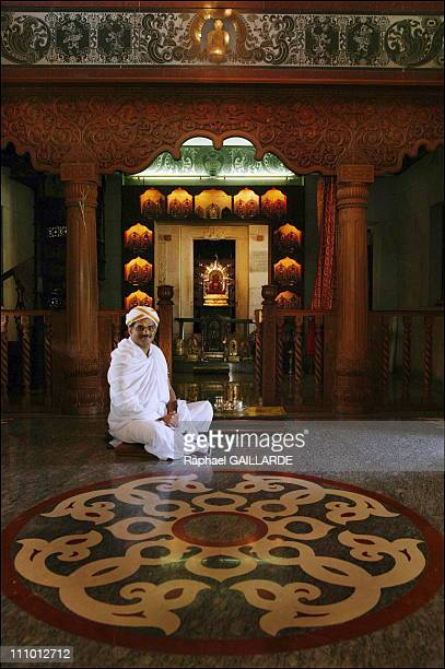 Dharmasthala Sri D Veerendra Heggade an influential political and religious man in his private temple where noone else is allowed in to meditate in...