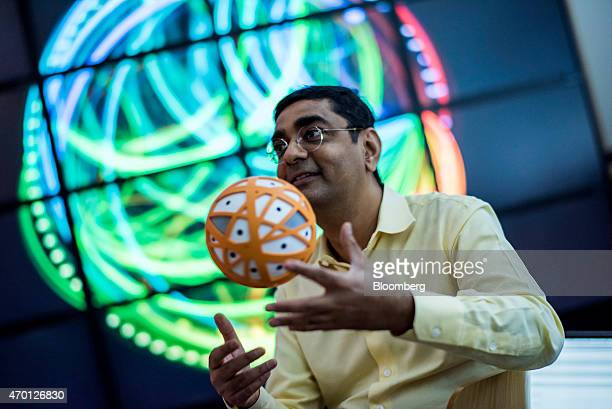 Dharmendra Modha chief scientist for Brain Inspired Computing at International Business Machines Corp works in the SyNAPSE chip testing room at the...