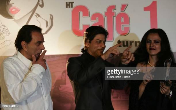 Dharmendra Shahrukh Khan and Rekha at HT Cafe Awards