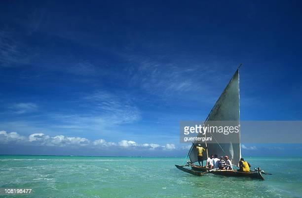 Dhow Boat at the coast of Zanzibar