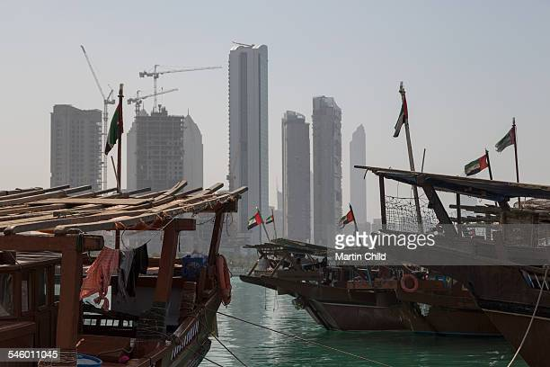Dhows and skyscrapers in Abu Dhabi
