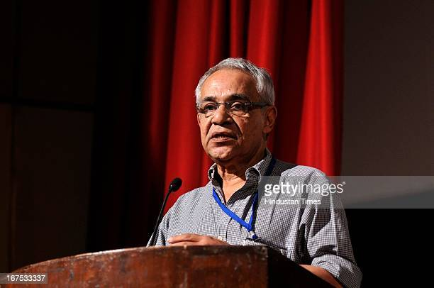 Dhritiman Chaterjee during the launch of the book Deep Focus Reflections on Cinema on Satyajit Ray at the Centenary Film Festival at Siri Fort...
