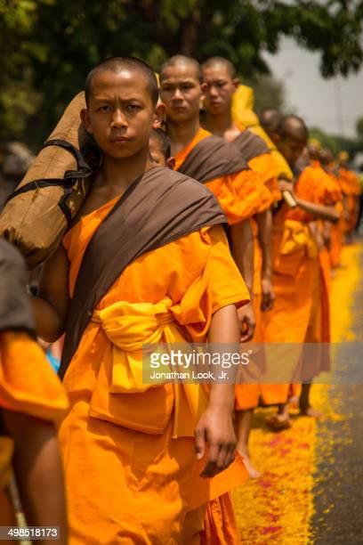Dhutanga Monk procession in Chiang Mai Thailand