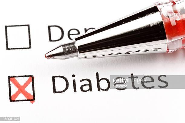 Diabetes Kontrollkästchen medical chart