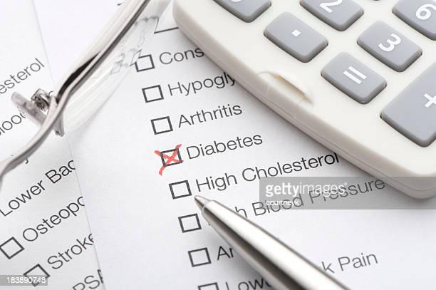 Diabetes Karomuster auf ein Medizinischer test