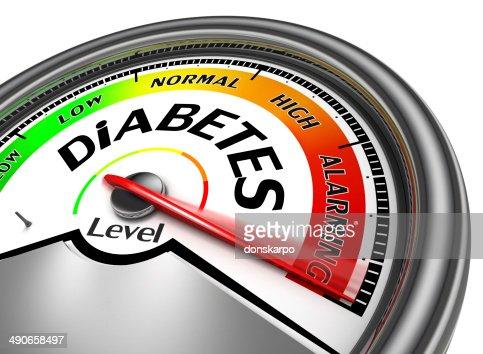 diabetes conceptual meter : Stock Photo