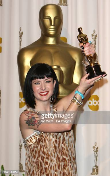 Diablo Cody with the award for Best Original Screenplay received for Juno at the 80th Academy Awards at the Kodak Theatre Los Angeles