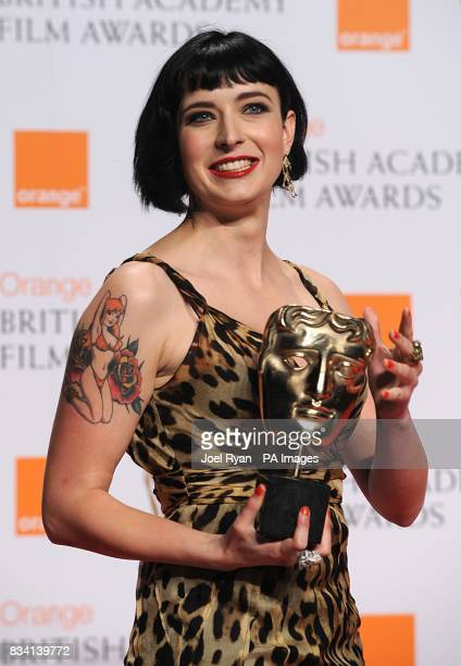 Diablo Cody with the award for Best Original Screenplay recieved for Juno during the 2008 Orange British Academy Film Awards at the Royal Opera House...