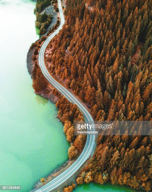 diablo lake aerial view