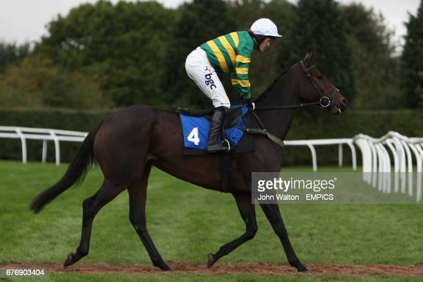 Diaco ridden by Tony McCoy going to post for the Betfair iPhone Android App Handicap Chase