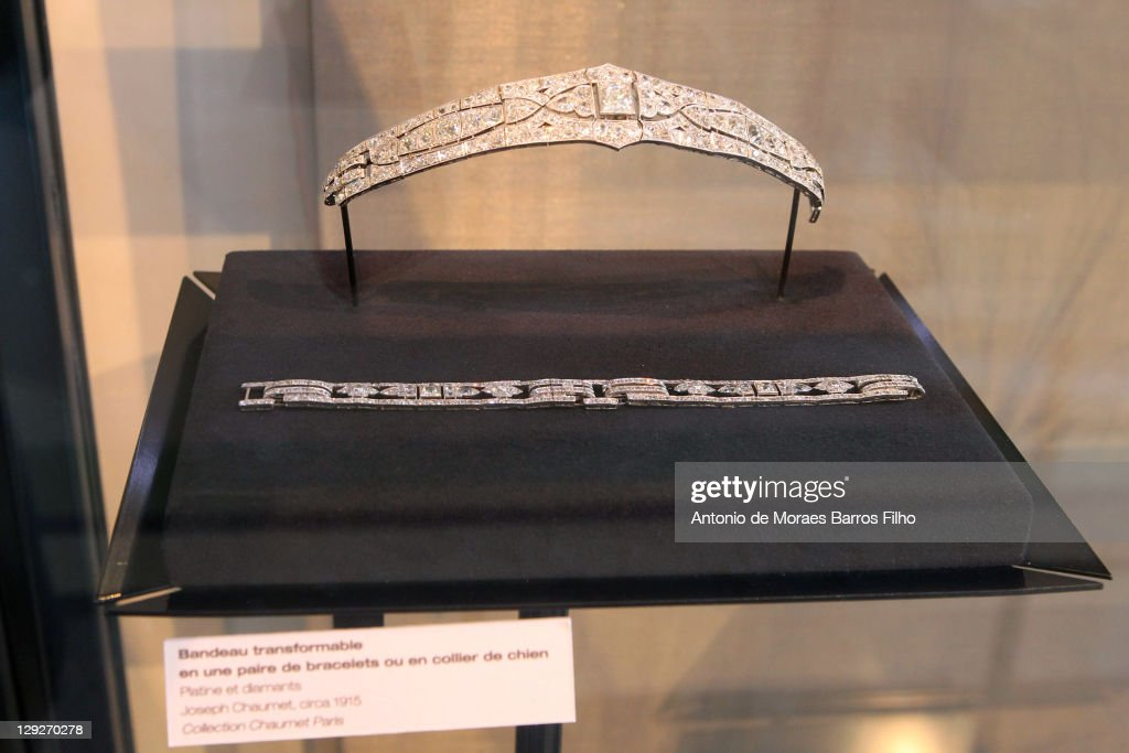 Diadem from the House of Chaumetduring LVMH - Les Journees Particulieres on October 15, 2011 in Paris, France.