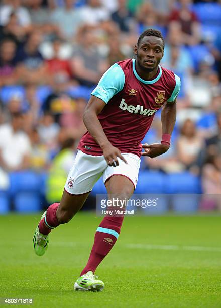Diafra Sakho of West Ham United during the Pre Season Friendly match between Peterborough United and West Ham United at London Road Stadium on July...