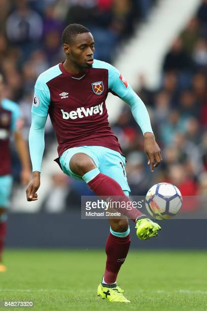 Diafra Sakho of West Ham United during the Premier League match between West Bromwich Albion and West Ham United at The Hawthorns on September 16...