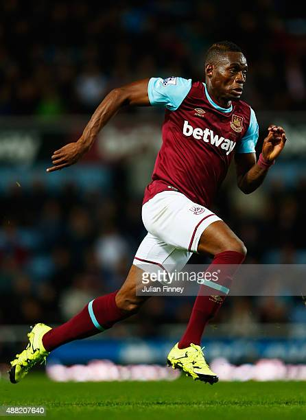 Diafra Sakho of West Ham United in action during the Barclays Premier League match between West Ham United and Newcastle United at the Boleyn Ground...