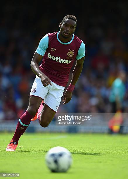 Diafra Sakho of West Ham United in action during the pre season friendly match between Southend United and West Ham United at Roots Hall on July 18...