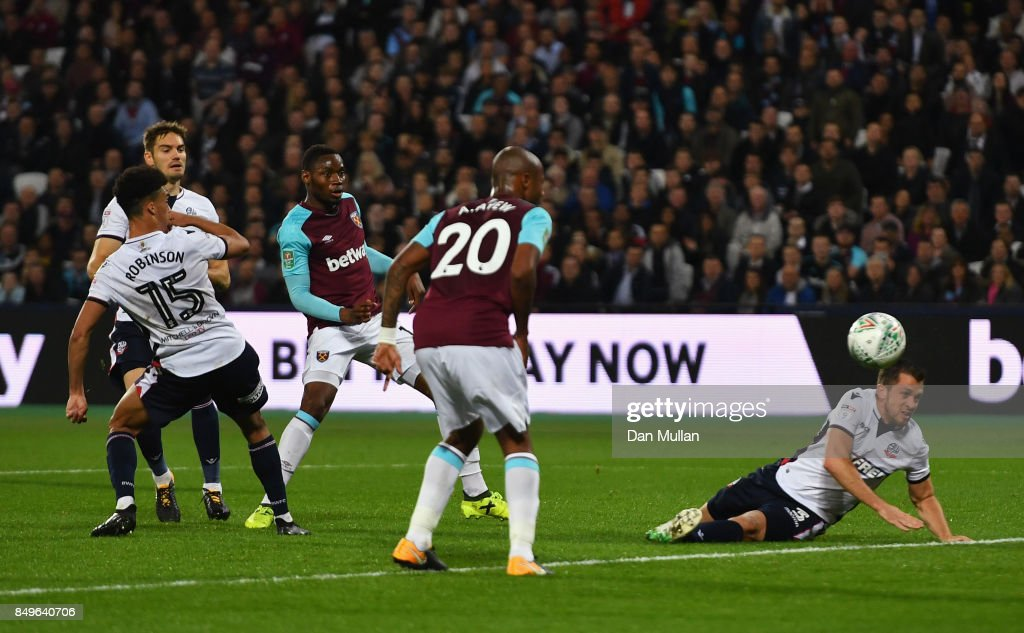 West Ham United v Bolton Wanderers - Carabao Cup Third Round