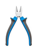 Diagonal cutting pliers (wire cutters) isolated on white background, included clipping path