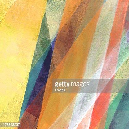 Diagonal Painted Abstract