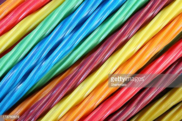 Diagonal Twisted Colorful Liquorice Candy