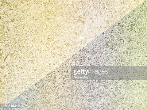 Diagonal de dos tonos suaves de Color abstracto de suelo de cemento. : Foto de stock