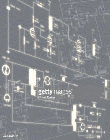Diagram of Circuitry : Stock Photo