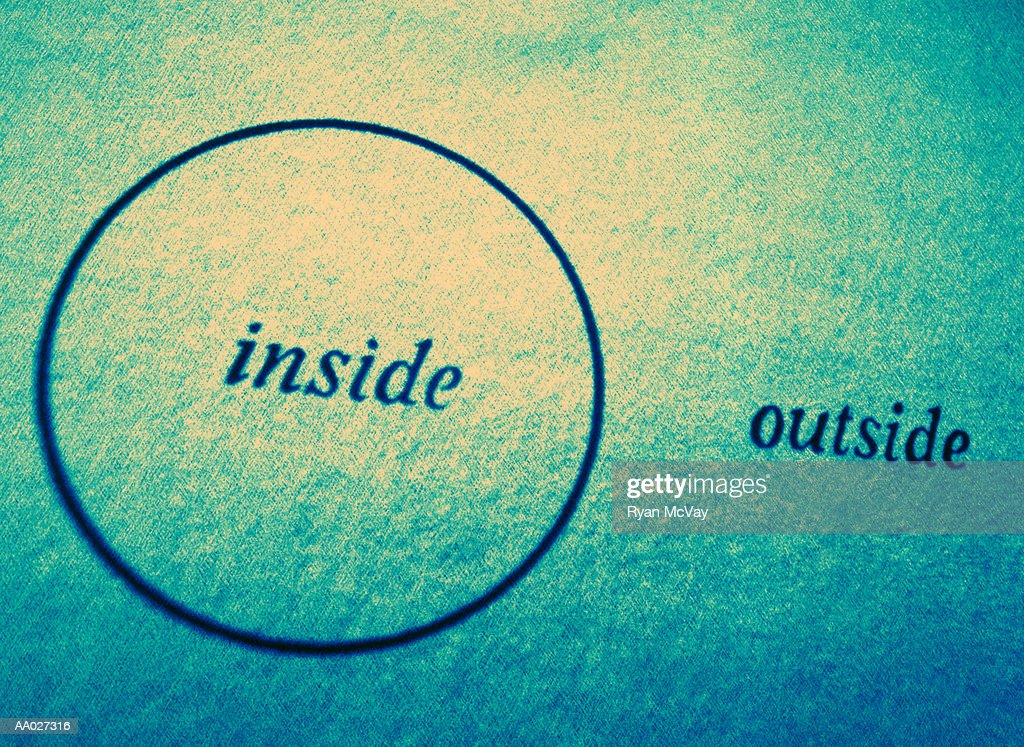Diagram of inside and outside stock photo getty images for Inside and outside pictures