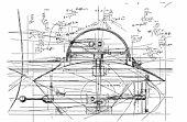 Diagram of turret on Civil War ship