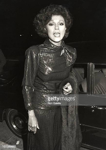Diahann Carrol during Diahann Carrol at a Party for 'Dynasty' Cast Members at Chasen's Restaurant in Beverly Hills California United States