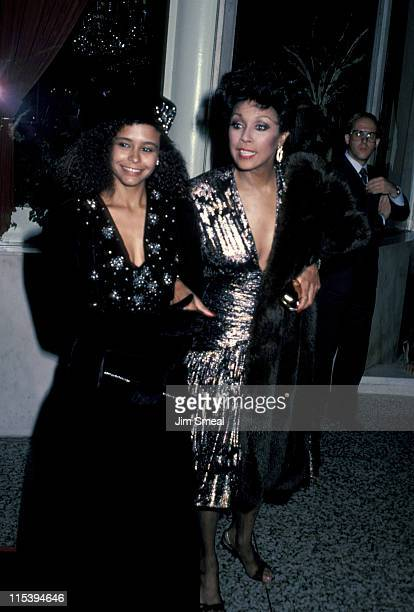 Diahann Carroll and guest during 'Dynasty' Cast Party October 25 1985 at Beverly Wilshire Hotel in Beverly Hills California United States