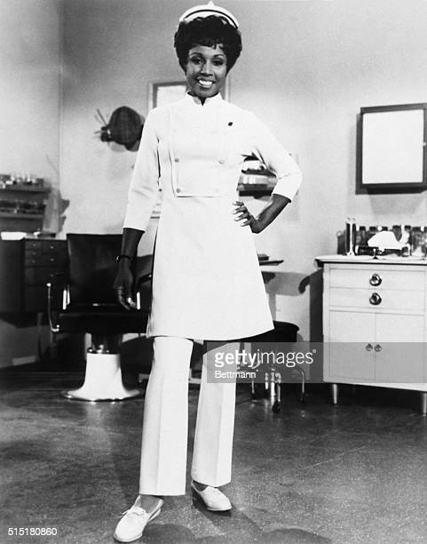 Diahann Carroll dressed for her role as the title character in the television series Julia 19681971