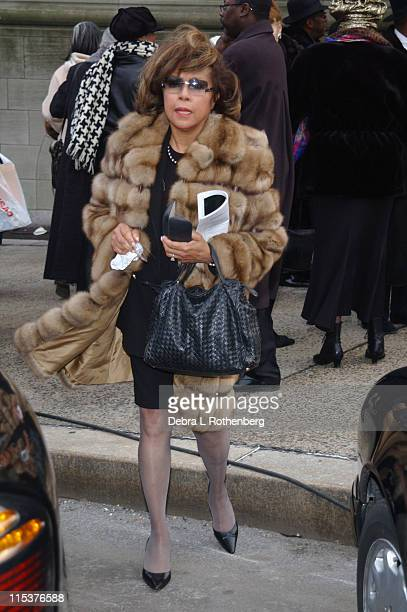 Diahann Carroll during Funeral for Ossie Davis February 12 2005 at Riverside Church in New York City New York United States