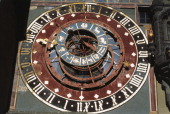 Dial of the astronomical clock Clock Tower Berne Canton of Bern Switzerland