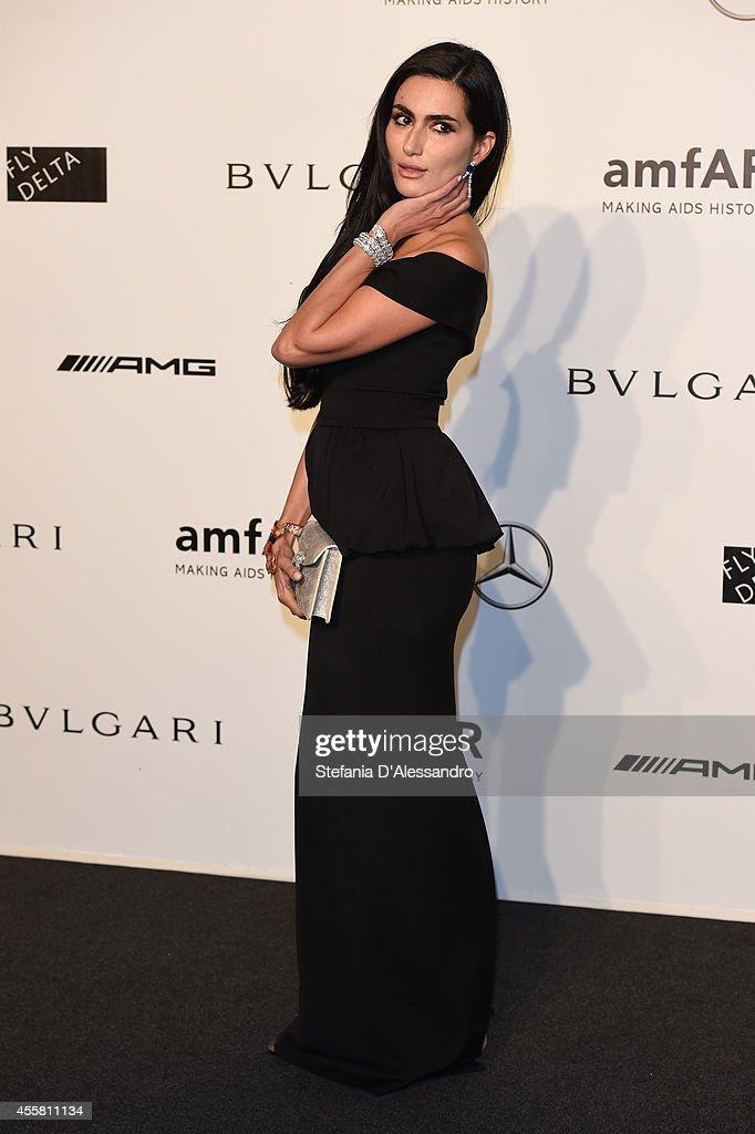 Diala Makki attends the amfAR Milano 2014 - Gala as part of Milan Fashion Week Womenswear Spring/Summer 2015 on September 20, 2014 in Milan, Italy.
