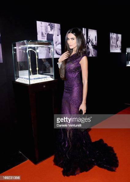 Diala Makki attends the 'Cleopatra' cocktail hosted by Bulgari during The 66th Annual Cannes Film Festival at JW Marriott on May 21 2013 in Cannes...