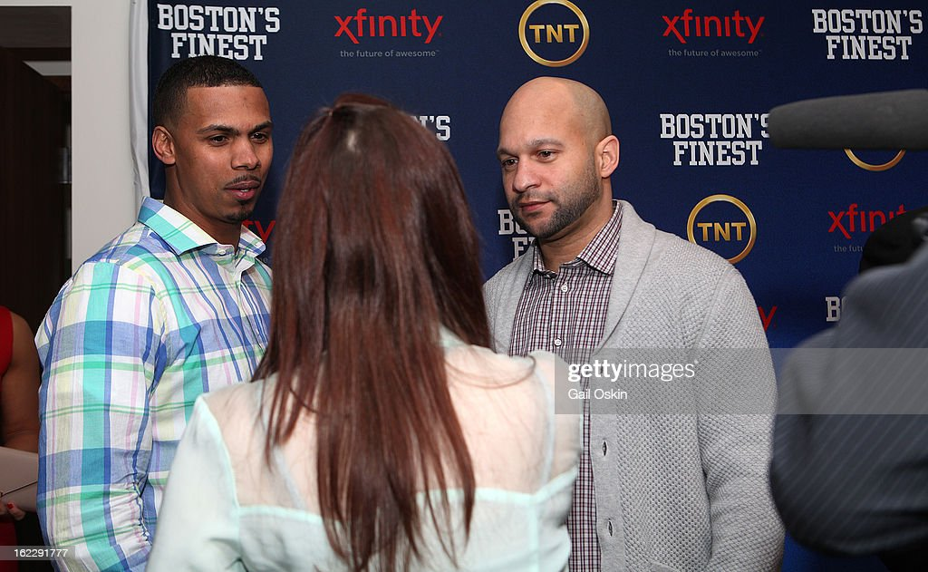 Diamantino Araujo and Manny Canuto attend TNT's 'Boston's Finest' premiere screening at The Revere Hotel on February 20, 2013 in Boston, Massachusetts.