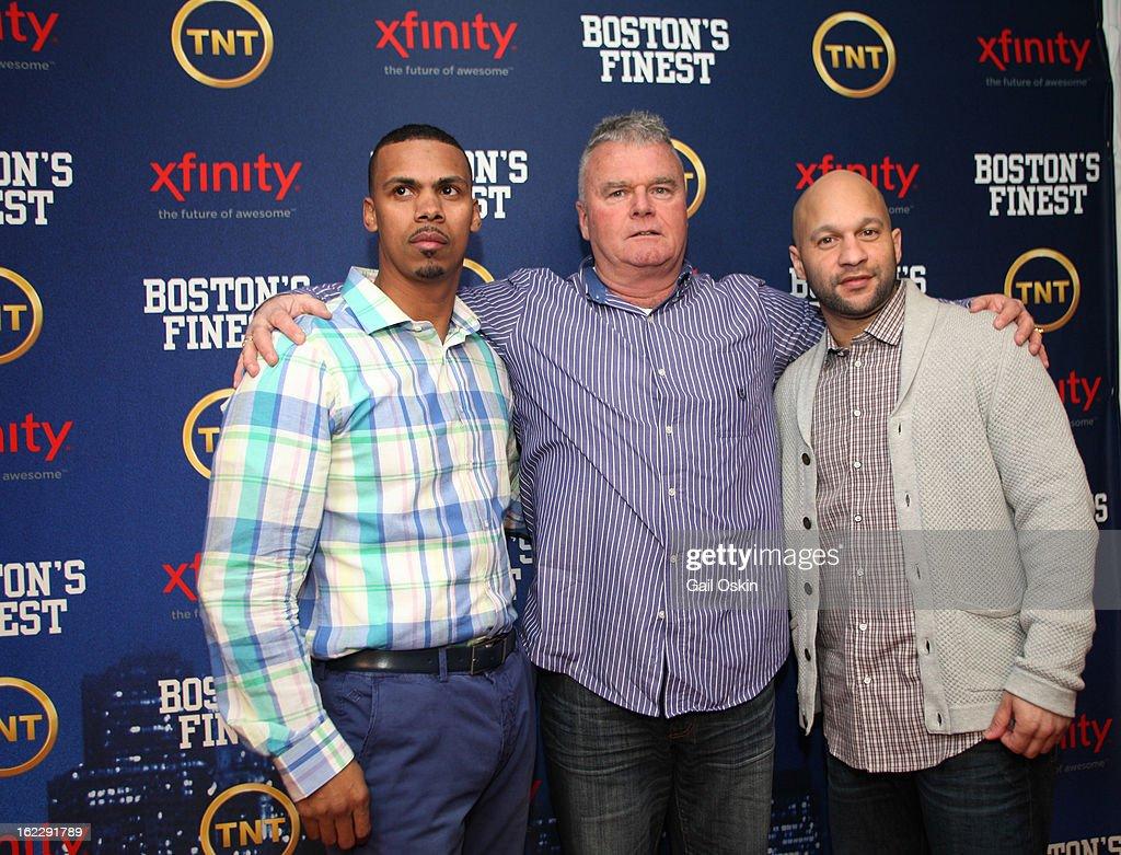 Diamantino Araujo (L) and Manny Canuto attend TNT's 'Boston's Finest' premiere screening at The Revere Hotel on February 20, 2013 in Boston, Massachusetts.