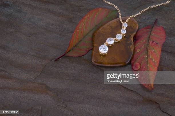 Diamond and Gold Eternity Necklace