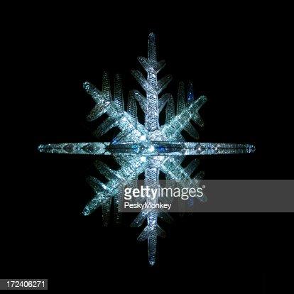 Diamond Blizzard Glittering Holiday Star Snowflake Ornament Light Night