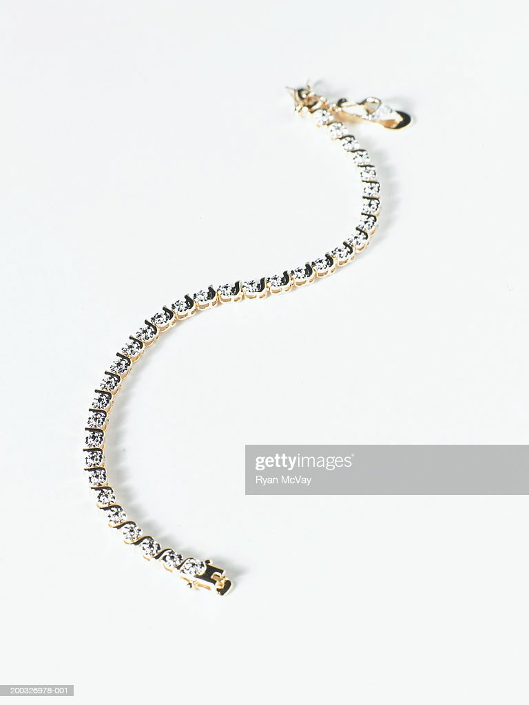 Diamond bracelet, elevated view