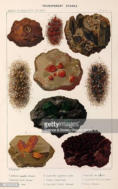 Diamond Cascalho Brazil diamond sand Borneo sapphire Ural sand with sapphires Ceylon rubies United States sand with rubies Burmah emerald Colombia...