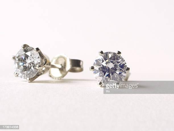 Boucles d'oreilles en diamant