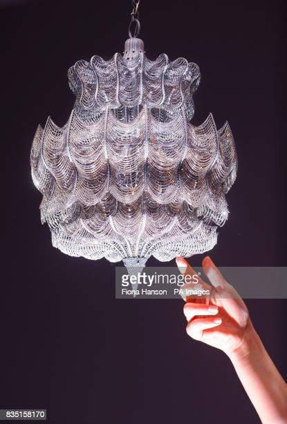 A diamond encrusted chandelier with a $28 million price tag designed by Solange AzaguryPartridge which will go on show for the first time at...